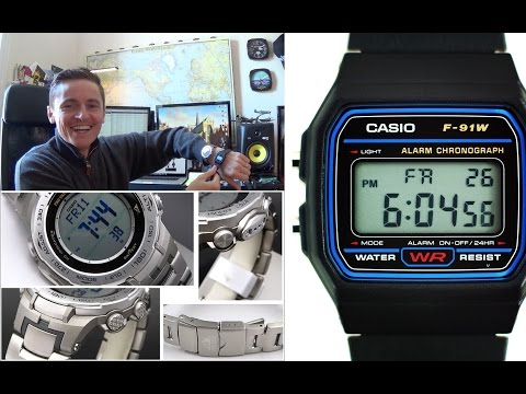 Casio Evolution - The 90s Iconic F-91W Meets It's 2015 Descendent - Pro-trek ABC Watch PRW-3100T