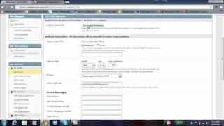 SCOOP Internet Marketing Forum - Account Settings