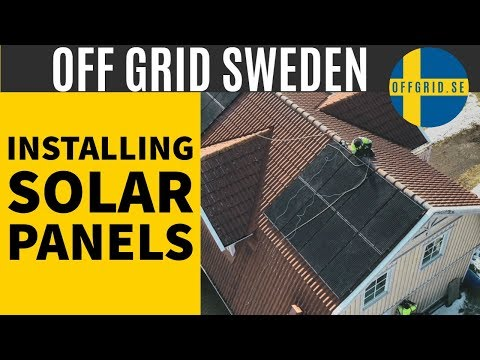 Installing solar panels on roof — THIS WILL BE AWESOME!