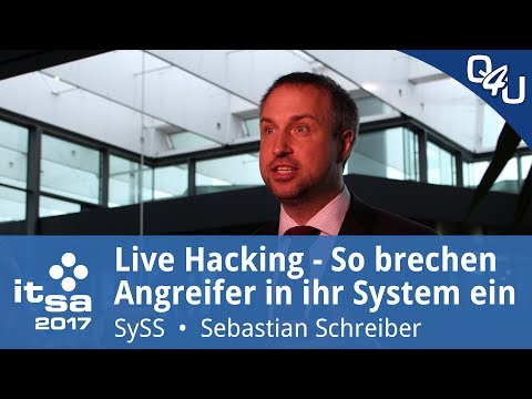 Live-Hacking mit Sebastian Schreiber (SySS GmbH) - it-sa 2017 | QSO4YOU Tech