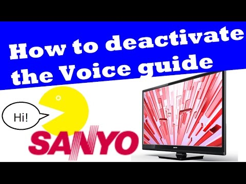 Unbox, How to activate / deactivate the Voice Guide on Sanyo 32