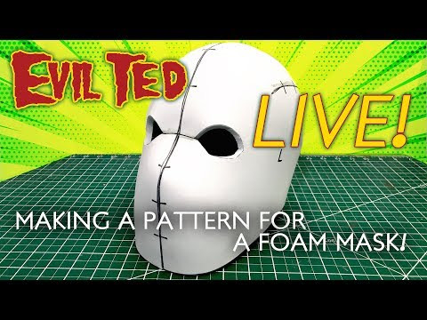 Evil Ted Live: Making a Pattern for a Foam Mask - 동영상