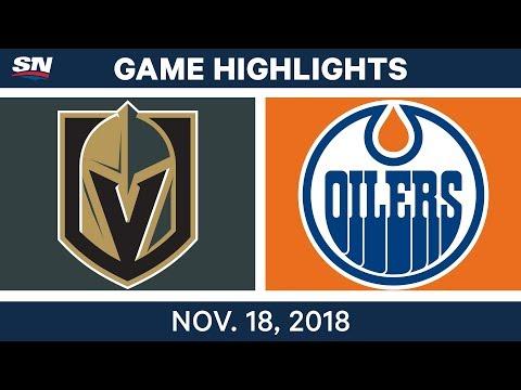 NHL Highlights | Golden Knights vs. Oilers – Nov. 18, 2018