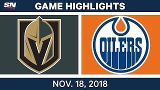 NHL Highlights | Golden Knights vs. Oilers – Nov. 18, 2018