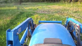 Brush hogging with LS R4041 tractor