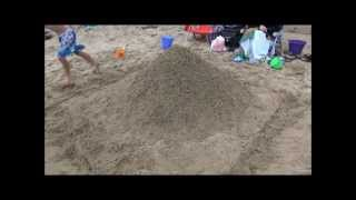 Two Hours in Two Minutes - High Speed Video of Sandcastle Construction