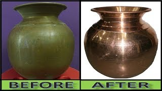 Miracle Cleaner:- How to Clean Copper Pot in 2 Minutes || You Never Believe This Magic