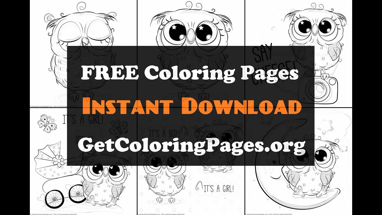 Cute owl coloring pages to print - YouTube