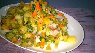 Постный Салат Оливье Рецепт Постного Салата Домашняя Вкусняшка Рецепты