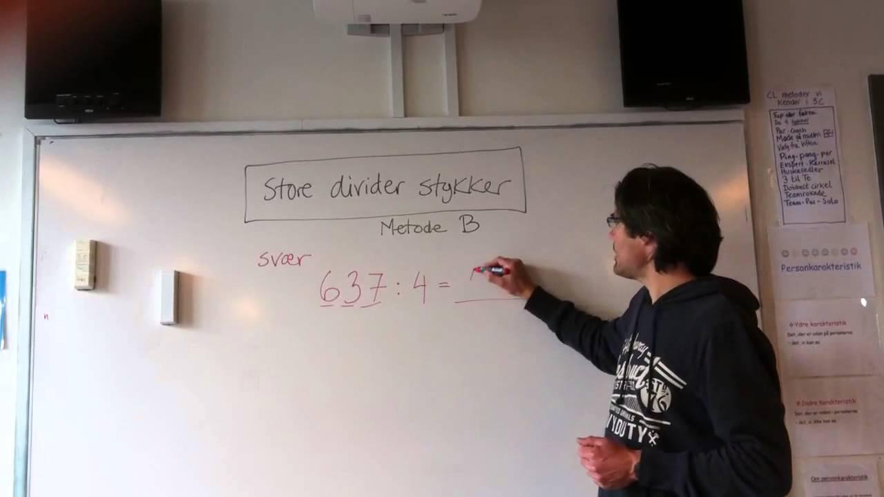 Divider med Peter - svær - metode B