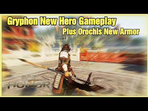 New Hero Gryphon Gameplay [For Honor] Plus Orochi New Armor at the End! |
