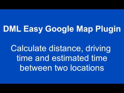 google driving time and distance