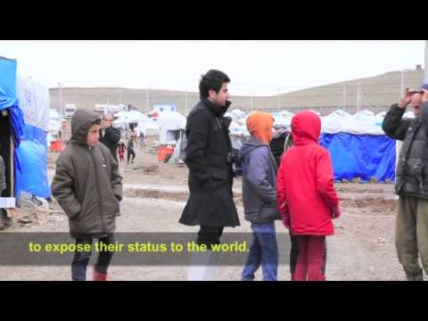 Reza's work in a Syrian refugee camp in Iraqi-Kurdistan