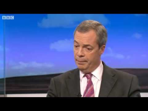 BBC News   Nigel Farage on Greece, Italy, euro and EU economics