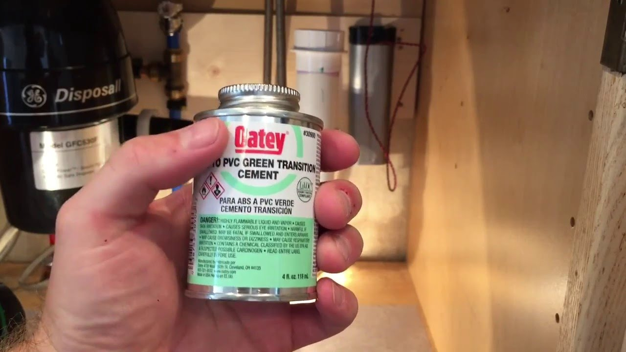 How to join ABS to PVC pipe using Oatey Green Transition