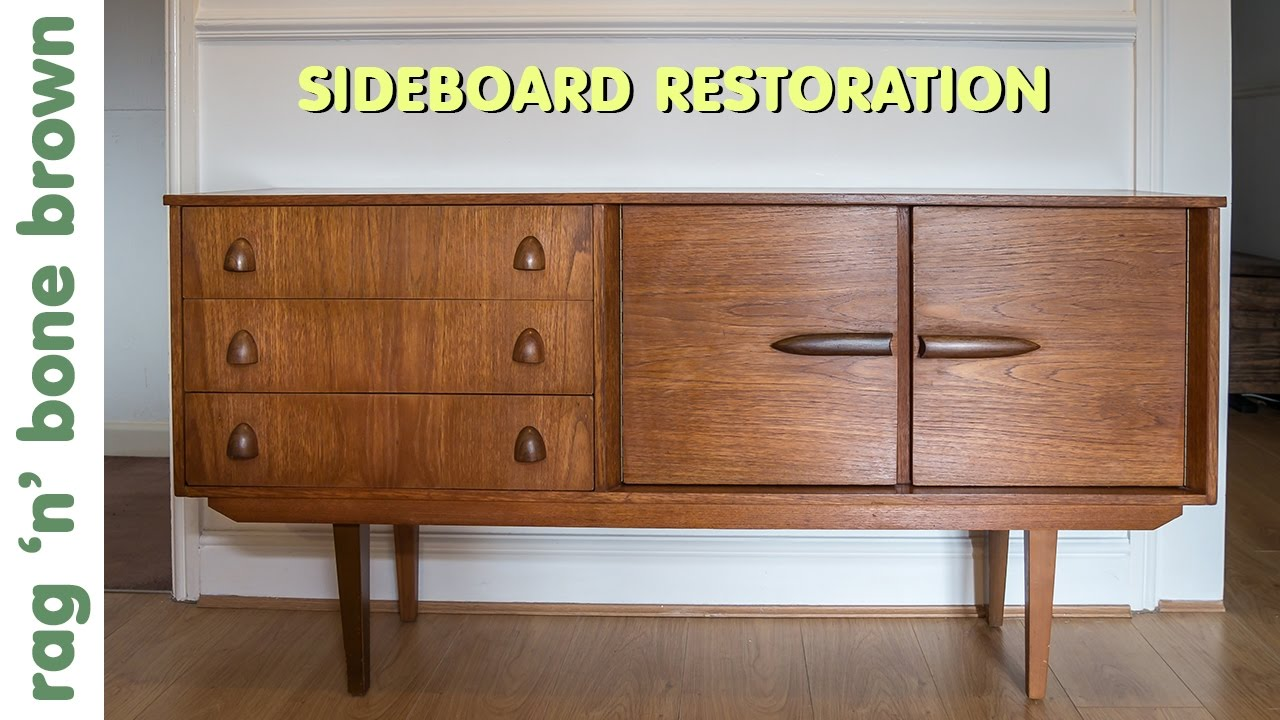 Vintage Sideboard For Sale Uk Restoring And Repairing A Mid Century Modern Style Sideboard