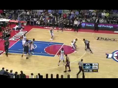 NBA 2008-09 season Pistons VS Hawks recap 11th Feb 09