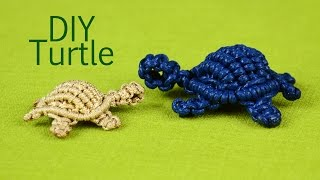 Repeat youtube video How to: Macramé Turtle, Tortoise, Tortue, Tortuga, Tartaruga
