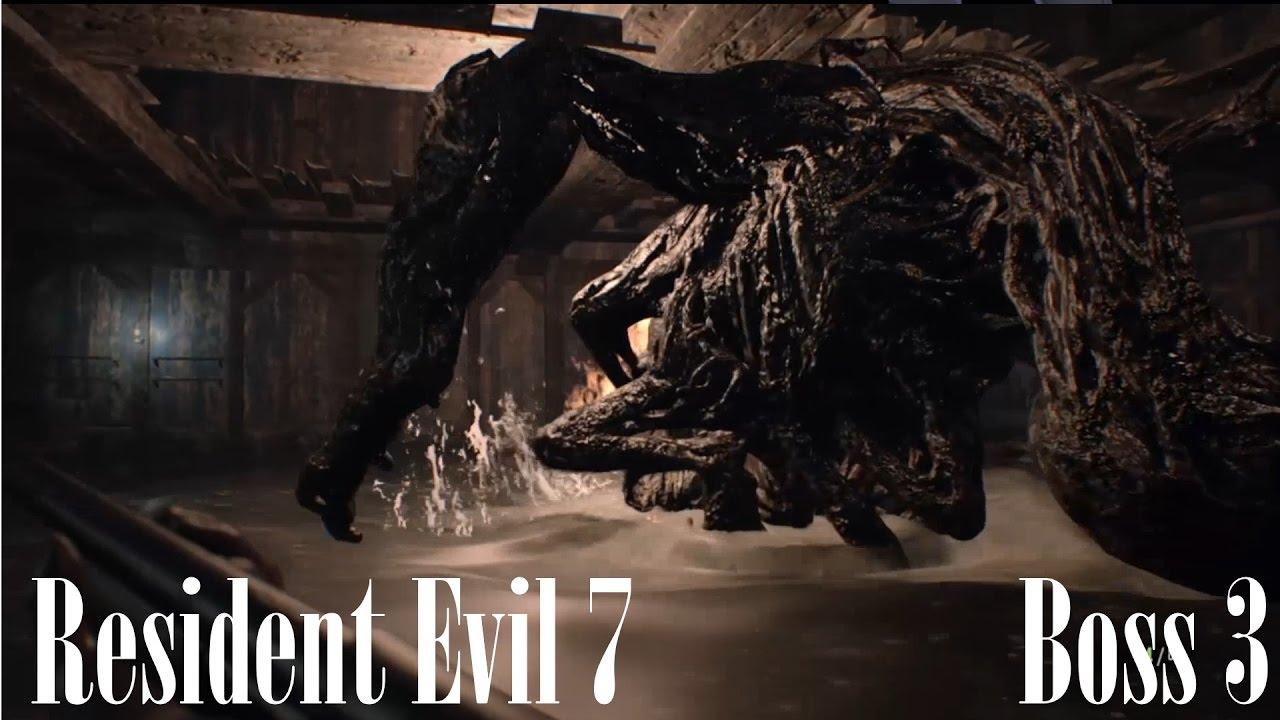 Resident Evil 7 Third Boss Fight Final Battle Against Jack Baker