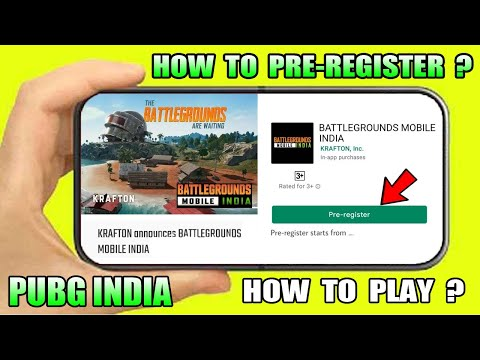 HOW TO PRE-REGISTER BATTLEGROUNDS MOBILE INDIA | PUBG MOBILE