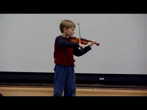 Gavin Performs Lully Gavotte at Belmont Day School (Mar 30, 2012)