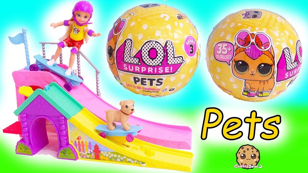 Lol Surprise Pets Barbie Kid Blind Bag Balls Litter Box Sand
