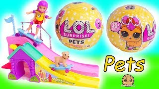 LOL Surprise Pets + Barbie Kid -  Blind Bag Balls -  Litter Box Sand Pee , Cry , Color Change ?