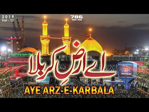 Nohay 2019 | Aye Arz-e-Karbala | Shahid Ali Shahid-Baltistani | Title Kalam-2019