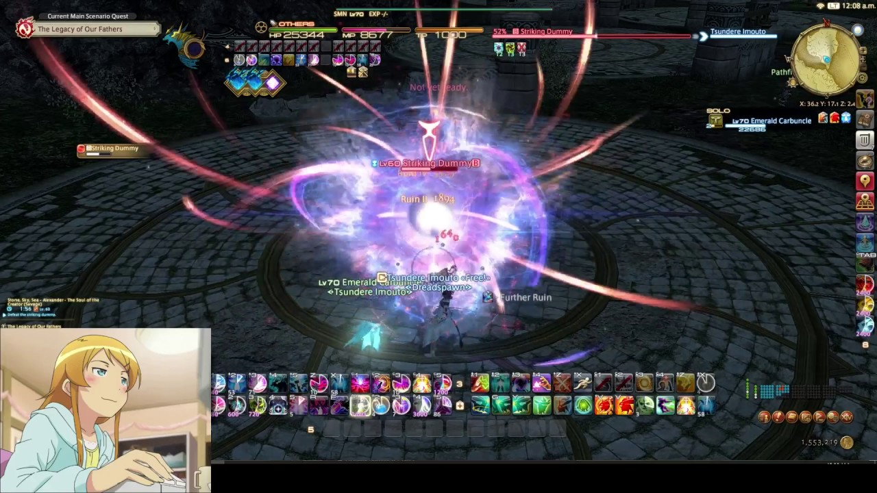 FFXIV Stormblood Summoner level 70 parse by Tsundere Imouto