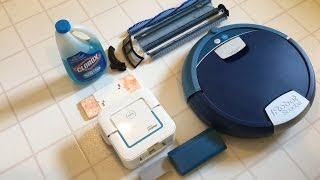 iRobot Scooba vs Braava jet pre-cleaning setup and post-cleaning maintenance comparison