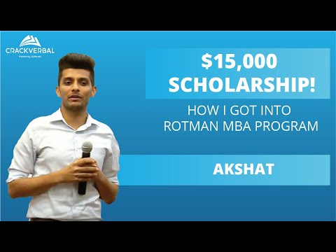 How I got into Rotman MBA program with a $15,000 Scholarship!