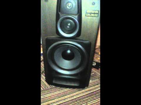 aiwa 3way twin duct bass reflex speaker system