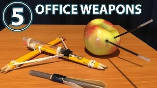 How to make fun WEAPONS from pencils, pens and rubber bands! Subscribe Now for more Pranks, Tricks, Social Experiments and