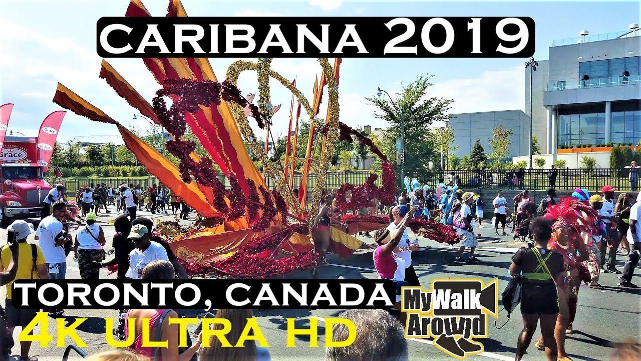 Caribana parade Toronto - 4k video of the Caribbean festival Toronto