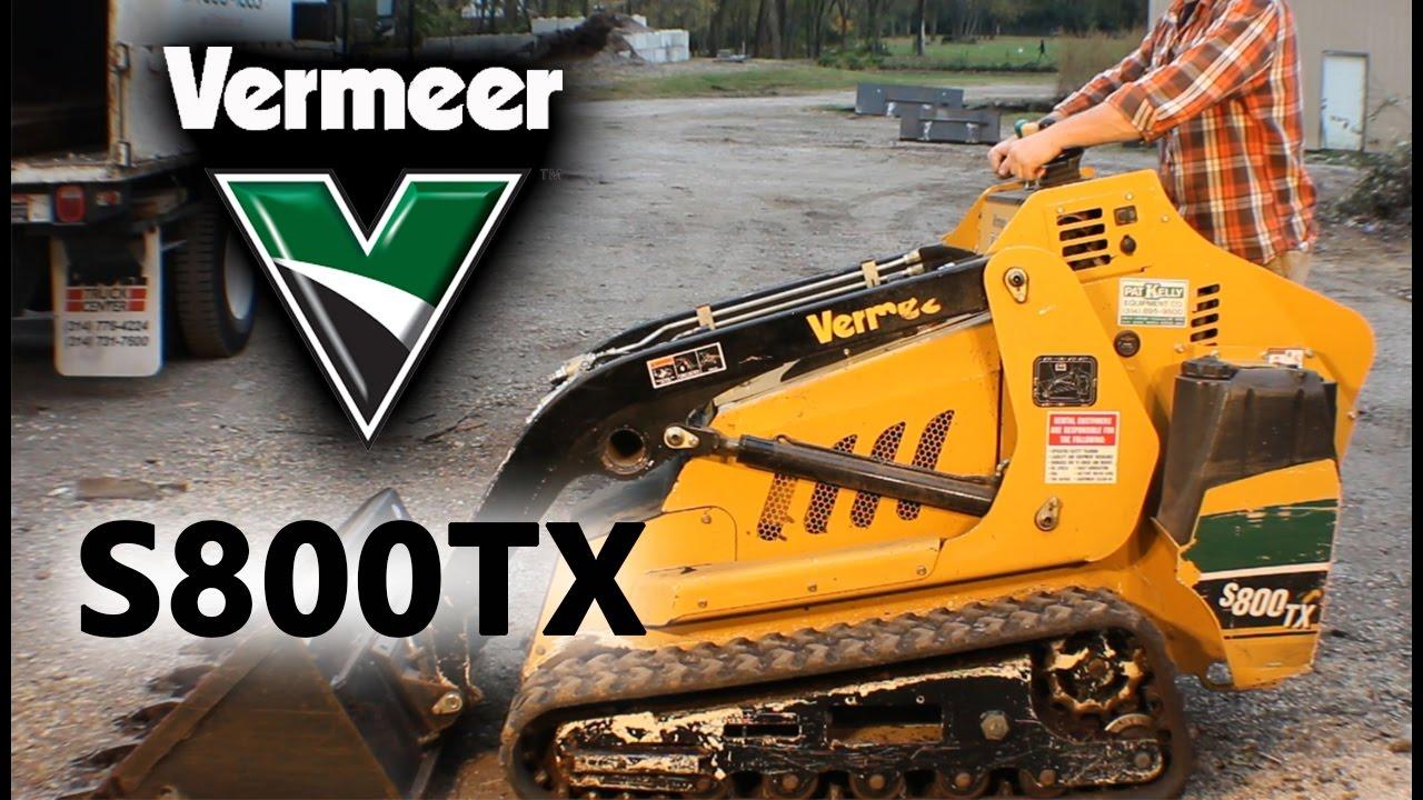 Vermeer S800tx Mini Skid Steer Overview Review Youtube