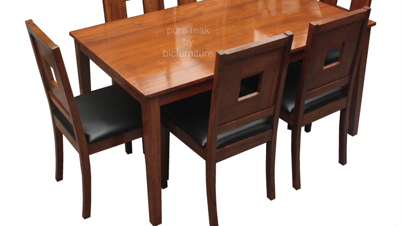 Teak Wood Dining Set In A Stylish Design | Make As Per Your Size   YouTube