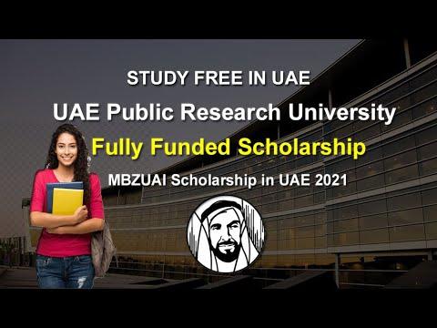MBZUAI Fully Funded Scholarship- UAE Scholarship-Pakistani students 2020