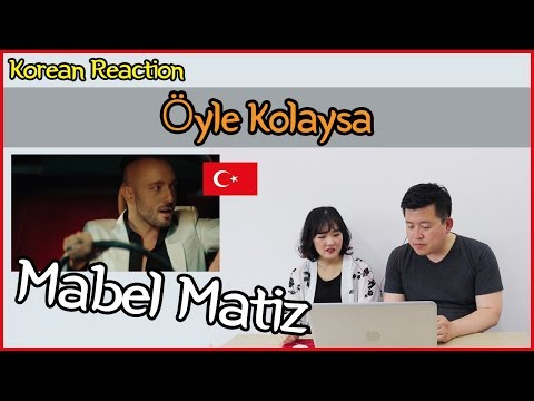 Mabel Matiz - Öyle Kolaysa Reaction [Koreans Hoon & Cormie] / Hoontamin