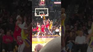 Nipsey Hussle Rondo Chris Paul fight Rockets vs Lakers Baseline View