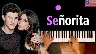 Shawn Mendes, Camila Cabello - Señorita ● караоке | PIANO_KARAOKE ● ᴴᴰ + НОТЫ & MIDI