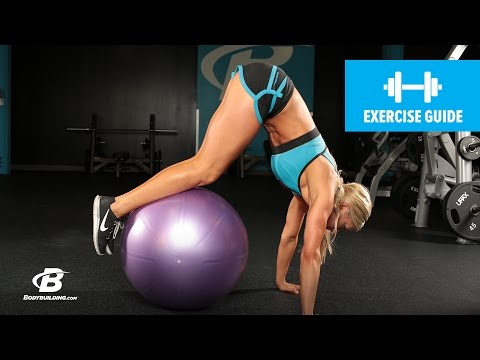 Stability Ball Pike with Knee Tuck | Exercise Guide