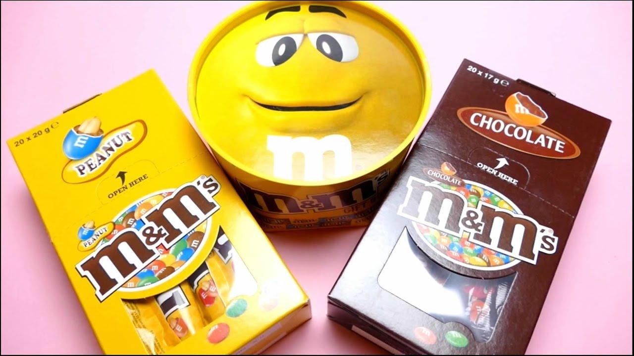 M&M's Sticks & Big Yellow M&M's Gift Box - M&M's Peanut & Crispy - YouTube