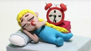 Elsa sleeping 💕Superhero Play Doh Stop motion cartoons