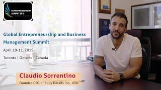 Claudio sorrentino founder, ceo of body details inc., usa