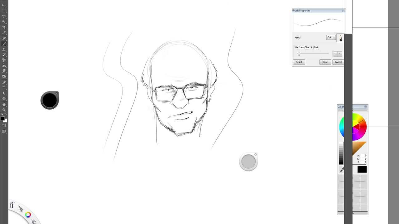 Drawing Smooth Curved Lines In Photo : Wacom and photoshop wavy line problem youtube