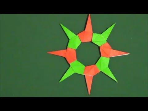 ハート 折り紙 折り紙で手裏剣 : youtube.com