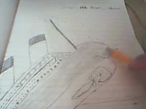 how to draw titanic ship sinking