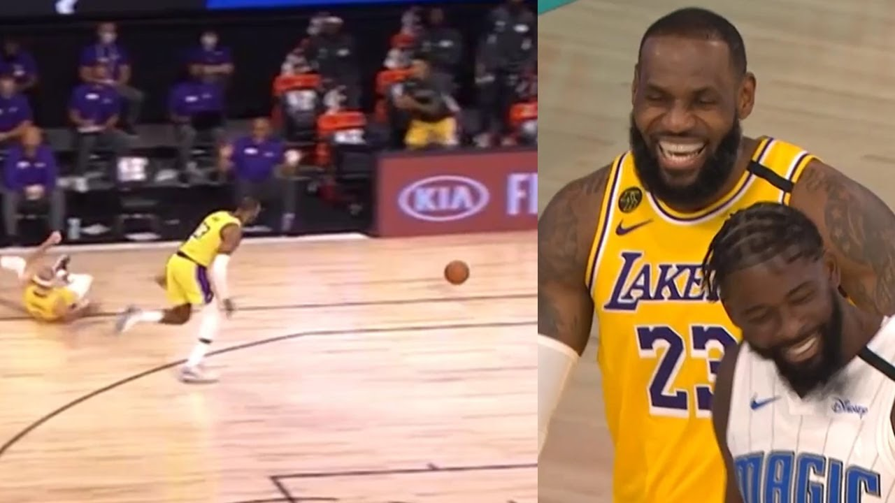"LeBron James is out here ""hustling"", this dive attempt is hilarious"