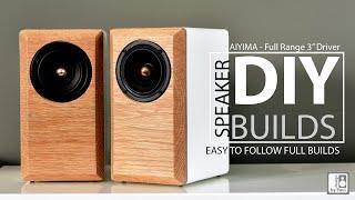 Mini/Desktop Bookshelf Speaker Build. DÏY Build Your Own Speakers (Part 2)
