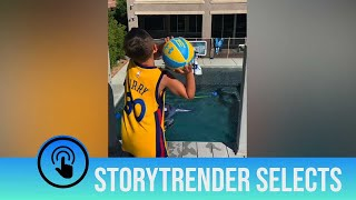 Born to ball! Basketball brothers' trick shots impress NBA stars